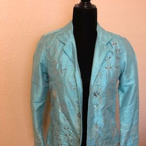 Beautiful Silk Jacket with beads & embroidery! NWT